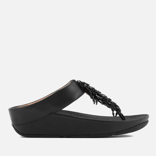 2e857a571178a FitFlop Women s Rumba Crystal Toe Post Sandals - Black  Image 1