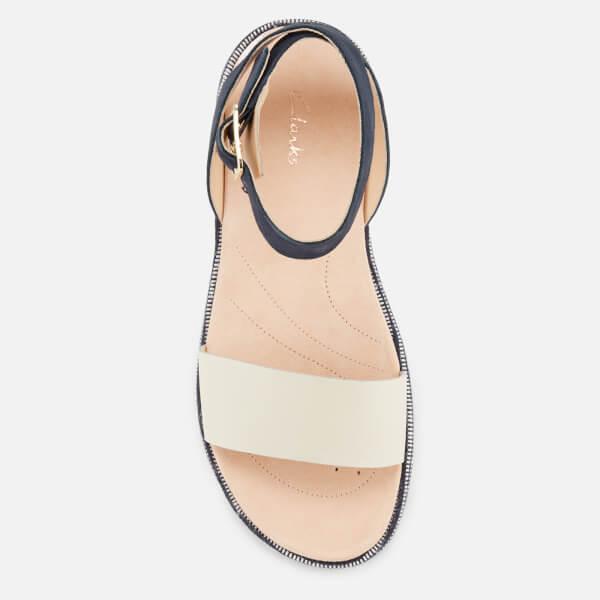 b8de23d558ed Clarks Women s Botanic Ivy Double Strap Flat Sandals - Navy Combi  Image 3