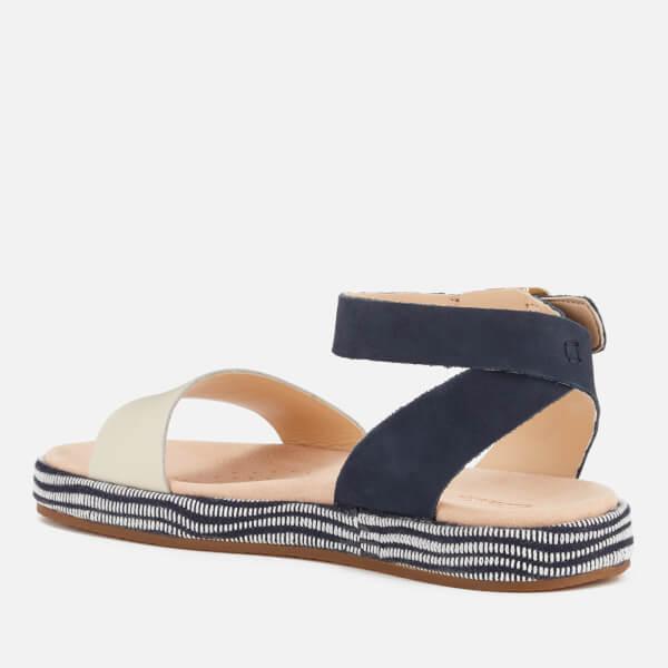 3aac40917e6a Clarks Women s Botanic Ivy Double Strap Flat Sandals - Navy Combi  Image 2