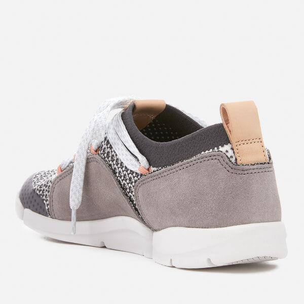 412ee3bdec0b1 Clarks Women s Tri Amelia Mesh Trainers - Grey Combi Womens Footwear ...