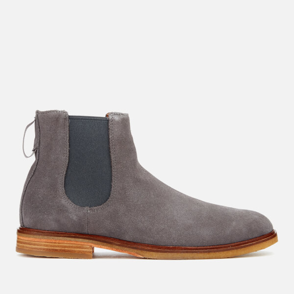 Clarks Men's Clarkdale Gobi Suede Chelsea Boots - Grey: Image 1