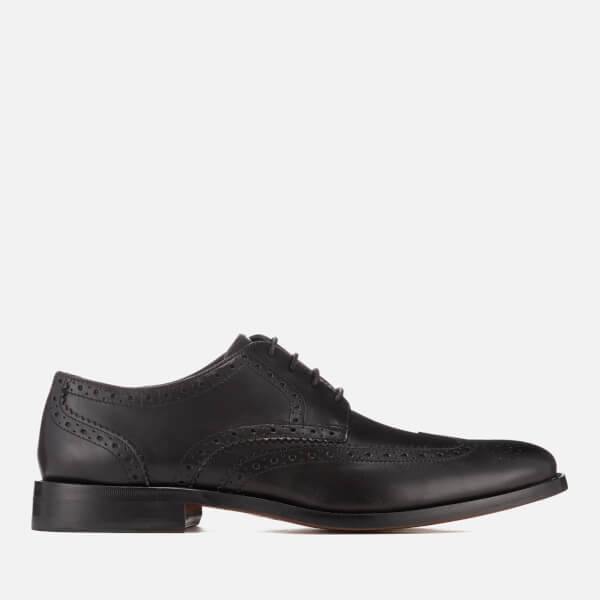 Clarks Men's James Wing Leather Brogues - Black