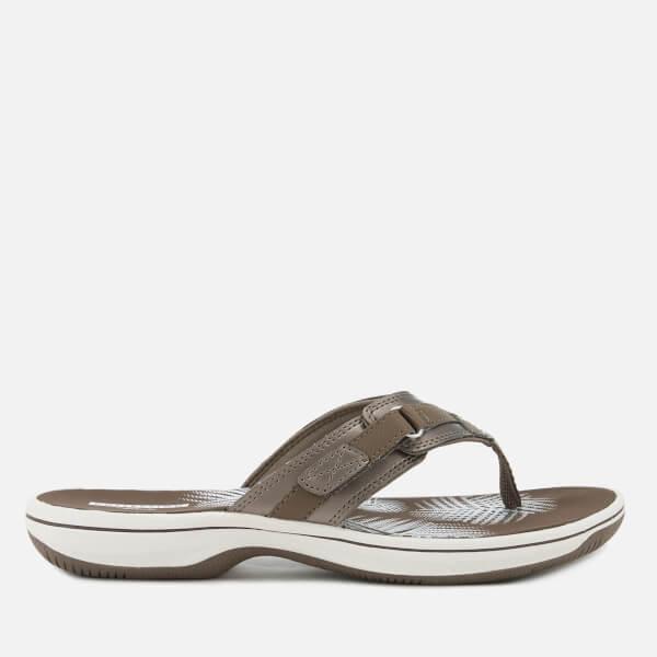 Clarks Women's Brinkley Sea Toe Post Sandals - Pewter
