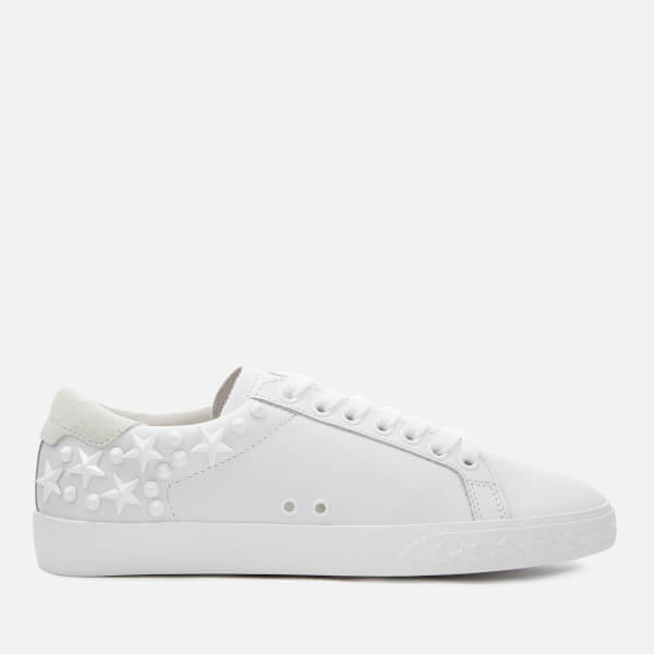 d55c4ae8925c Ash Women s Dazed Leather Low Top Trainers - White Snow  Image 1