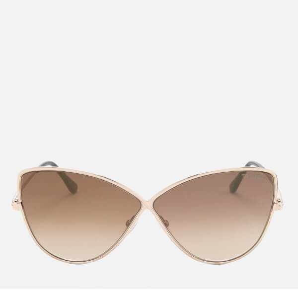 Tom Ford Women's Elise Butterfly Shape Sunglasses - Rose Gold/Brown Mirror
