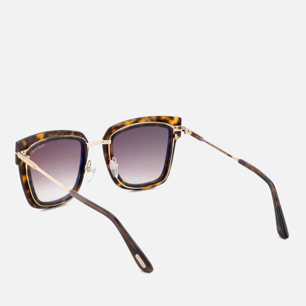 37c4d8688c5 Tom Ford Women s Lara Square Frame Sunglasses - Dark Havana  Image 3