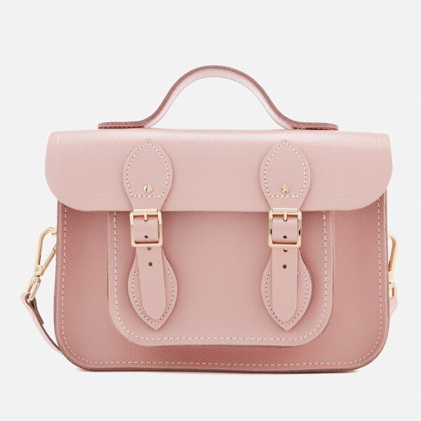 The Cambridge Satchel Company Women's 11 Inch Magnetic Batchel - Peach Pink Saffiano: Image 01