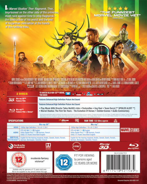 Thor Ragnarok 3d Includes 2d Version Blu Ray Zavvi De