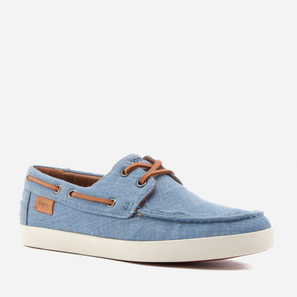6f9390ae104d0b Lacoste Men s Keellson Boat Shoes - Blue Clothing