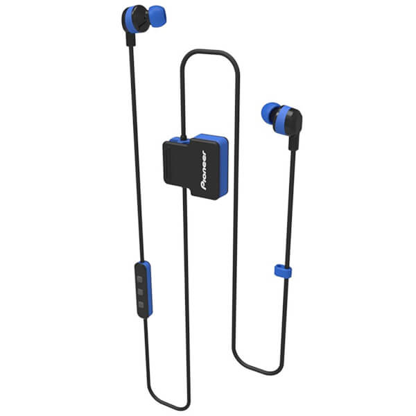 Pioneer SE-CL5BT-GR Wireless Bluetooth Earphones - Blue