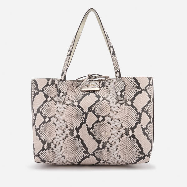 Guess Women's Bobbi Inside Out Tote Bag - Natural Python