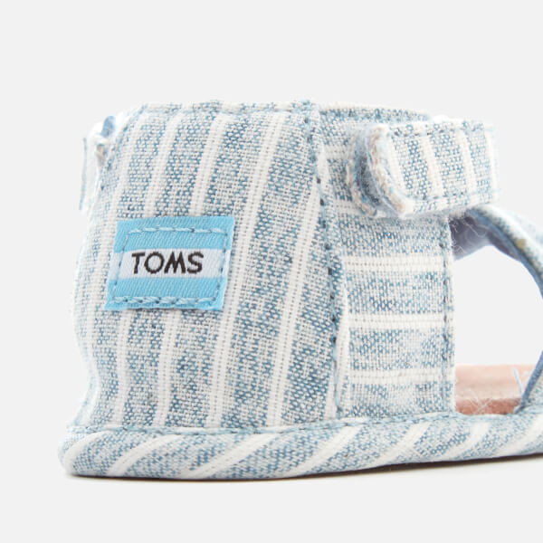 58c10b88c35 TOMS Babies  Shiloh Sandals - Sky Washed Stripe Junior Clothing ...