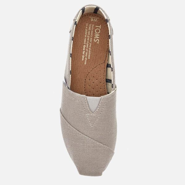 e3f2cd55562 TOMS Women s Alpargata Slip-On Pumps - Morning Dove Womens Footwear ...