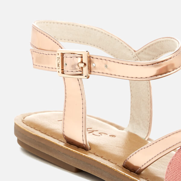 c4ee0269cd73 TOMS Women s Lexie Strappy Sandals - Rose Gold Specchio Hep  Image 3