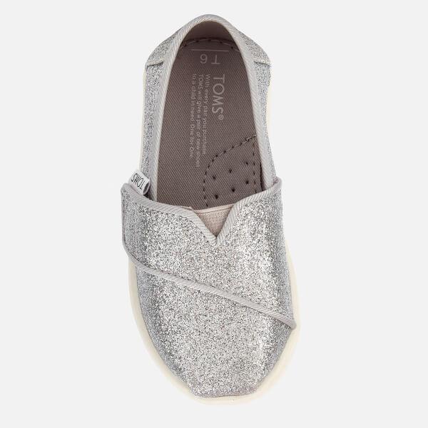 1e4cd8477e0 TOMS Toddlers  Alpargata Slip-On Pumps - Silver Iridescent Glimmer  Image 3
