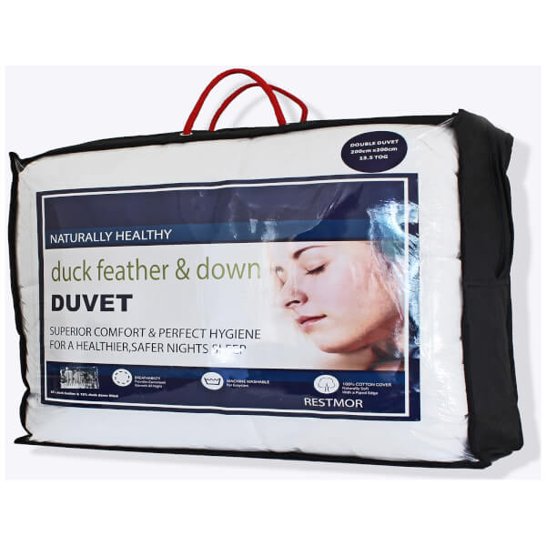 Restmor Duck Feather and Down 13.5 Tog Duvet - White