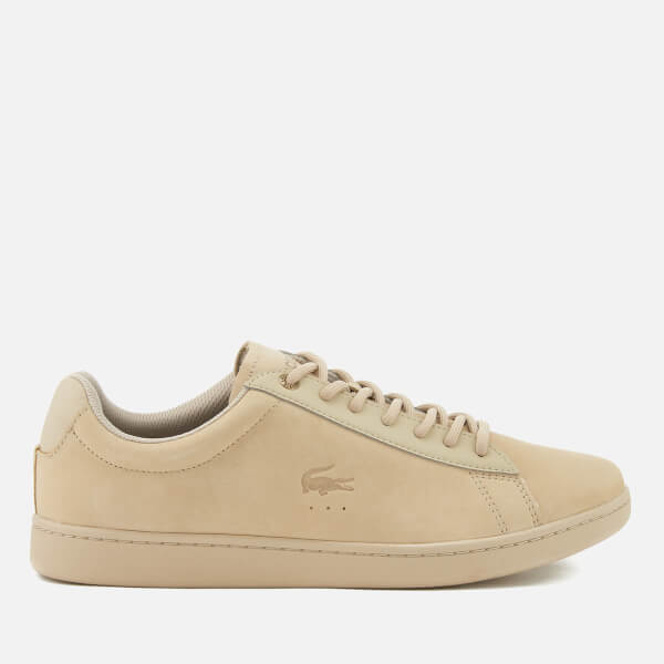 Lacoste Men's Carnaby Evo 118 1 Spm Nubuck Cupsole Trainers - Light Tan