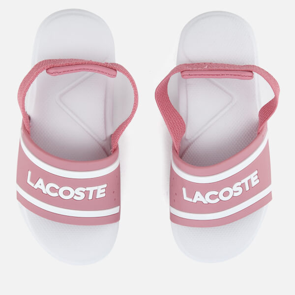 Lacoste Toddlers' L.30 118 2 Slide Sandals - Pink/White