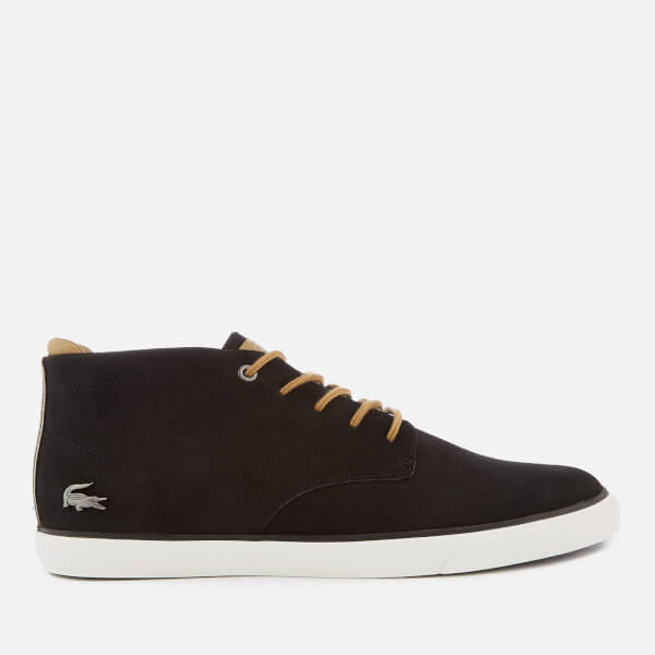 Lacoste Men's Esparre 118 1 Nubuck Chukka Boots - Black/Light Brown