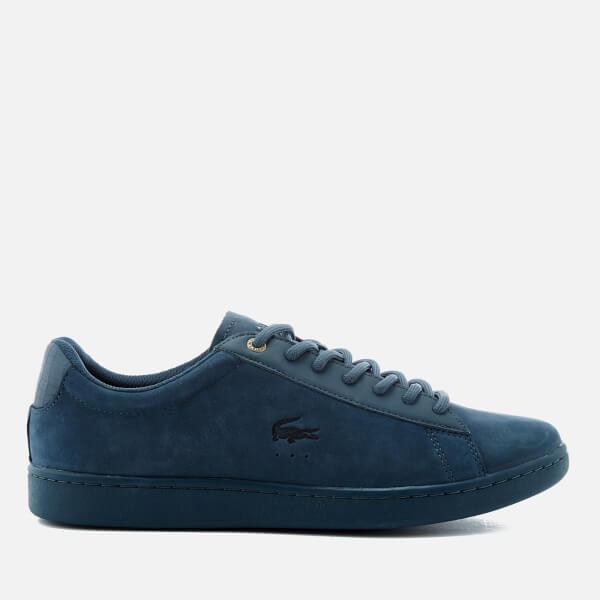 87501221b12f Lacoste Men s Carnaby Evo 118 1 SPM Nubuck Cupsole Trainers - Blue  Image 1