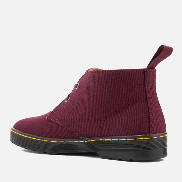 Dr. Martens Men's Mayport Overdyed Twill Canvas Lace Low Boots - Oxblood - UK 6 lboXQK7IR