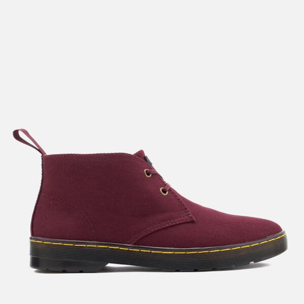 Dr. Martens Men's Mayport Overdyed Twill Canvas Lace Low Boots - Oxblood - UK 6 lE4Z0oeaFS