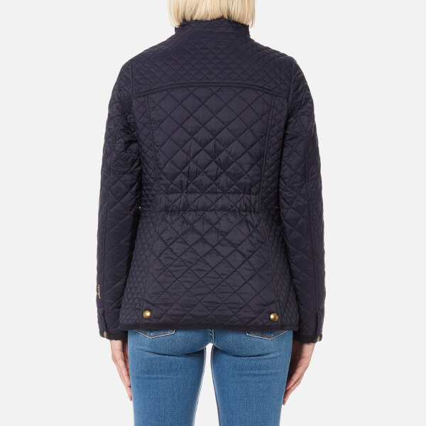 Joules Womens Newdale Quilted Coat Marine Navy Womens Clothing