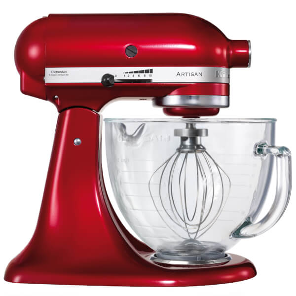 KitchenAid KSM156BCA Artisan 4.8L Tilt Head Stand Mixer   Candy Apple Red.  View Large Image