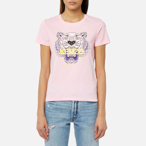 KENZO Women s Classic Tiger T-Shirt - Flamingo Pink - Free UK ... 1badd494c0f