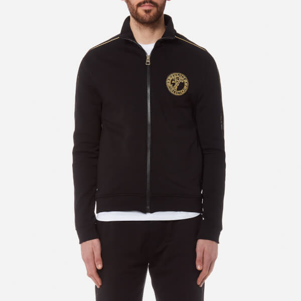 98387ef32bd Versace Collection Men s Zipped Sweatshirt - Nero Mens Clothing ...