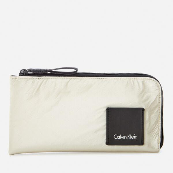 Calvin Klein Women's Fluid Pouch Wallet - Light Gold