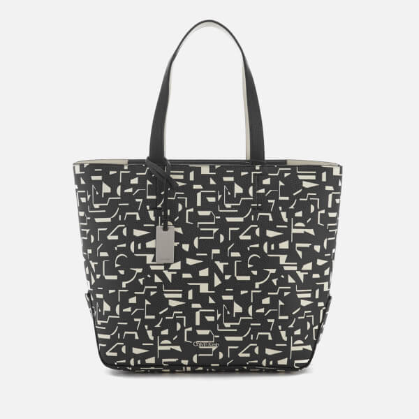 Calvin Klein Women's Edit Medium Shopper Print Bag - Black/Off White