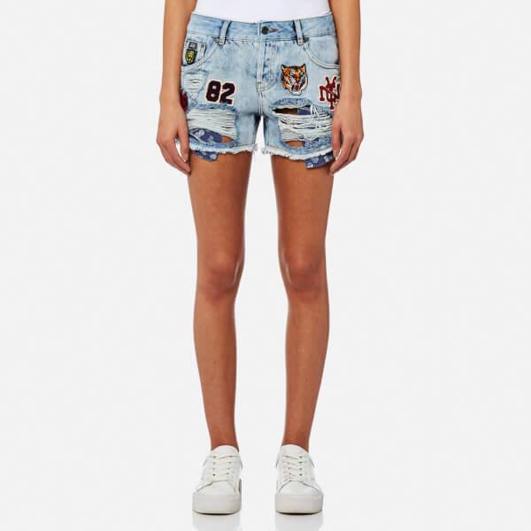 Superdry Women s Steph Badged Boyfriend Shorts - Frost Blue  Image 1 a364e8d4fec6