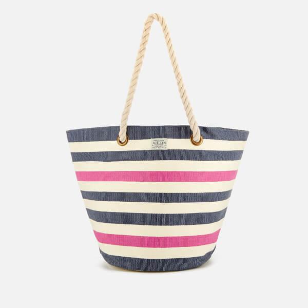 Joules Women's Summer Beach Bag - French Navy Stripe