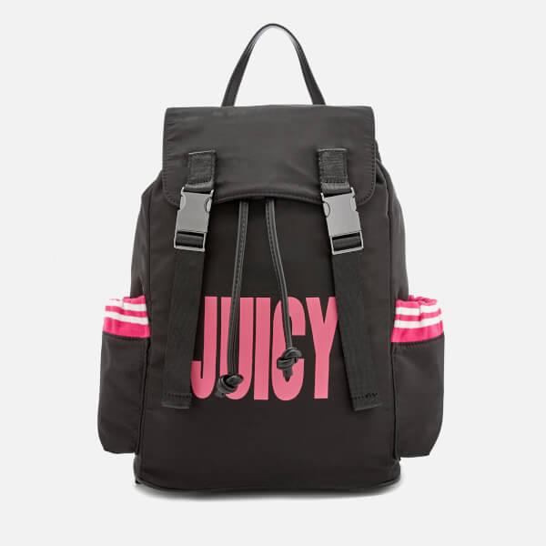 Juicy Couture Women s Kinney Multi Pocket Backpack - Black Pink  Image 1 353f03825