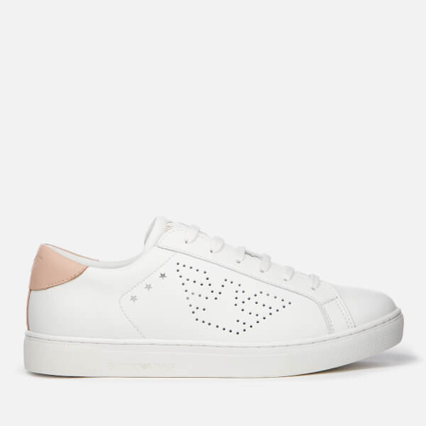 Emporio Armani Women's Shara Trainers - Optical White/Nude