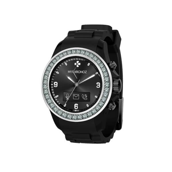 MyKronoz Zeclock Bluetooth Smart Watch - Black/Silver