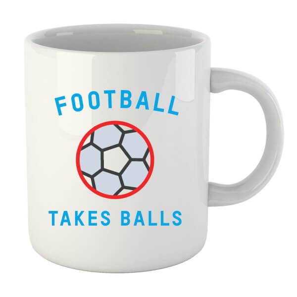 Football Takes Balls Mug