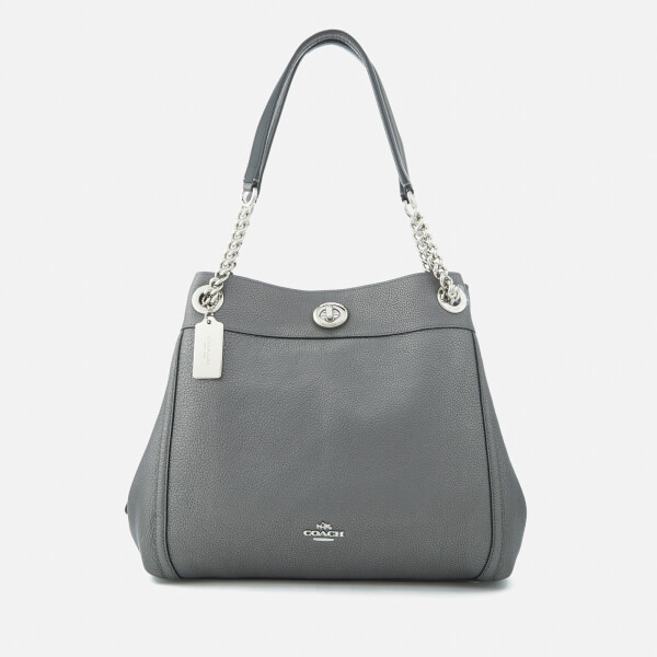 Coach Women's Turnlock Edie Bag - Metallic Graphite