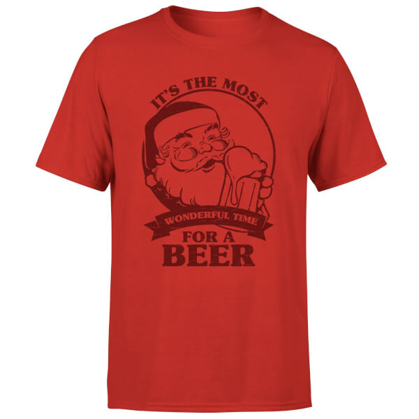 The Most Wonderful Time For A Beer T-Shirt - Red