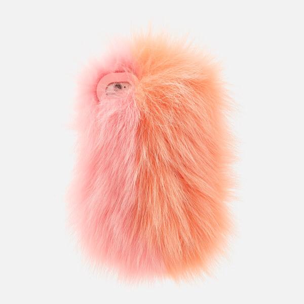 Charlotte Simone Women's Phone Fluff iPhone Case - Pastel Pink/Apricot