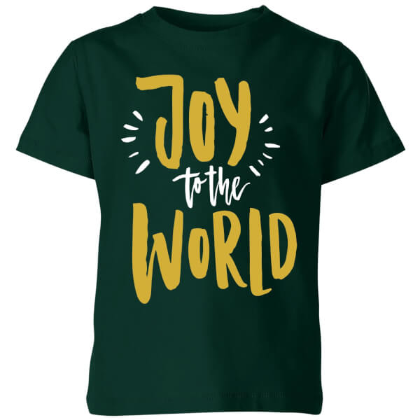Joy to the World Kids' T-Shirt - Forest Green