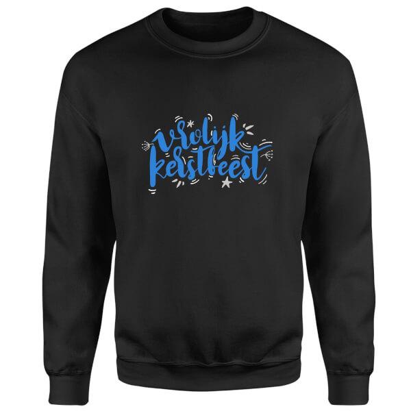 Kerstfeest Sweatshirt - Black