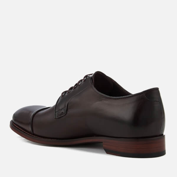 Paul Smith Men's Ernest Leather Toe Cap Derby Shoes - Oxblood - UK 11 NT6XNg9