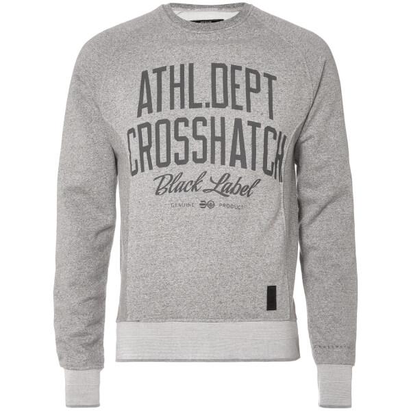 Crosshatch Men's Truman Sweatshirt - Grey Marl