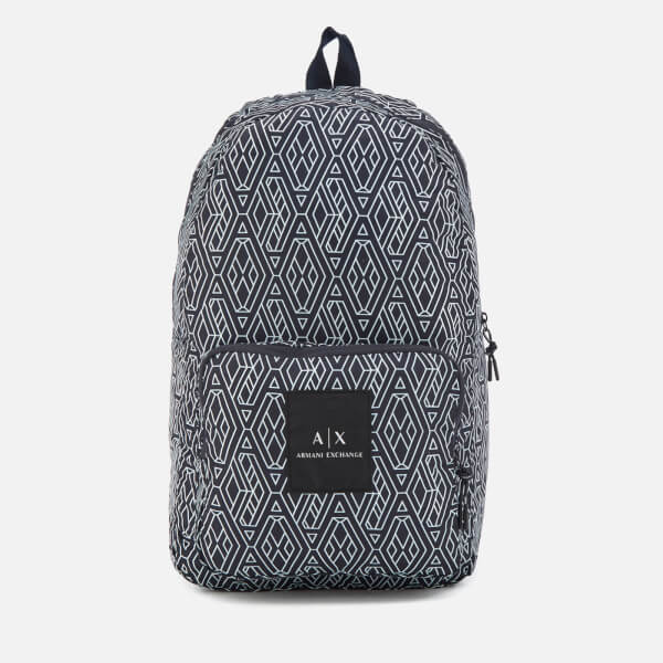Armani Exchange Men's Printed Backpack - Blue/White
