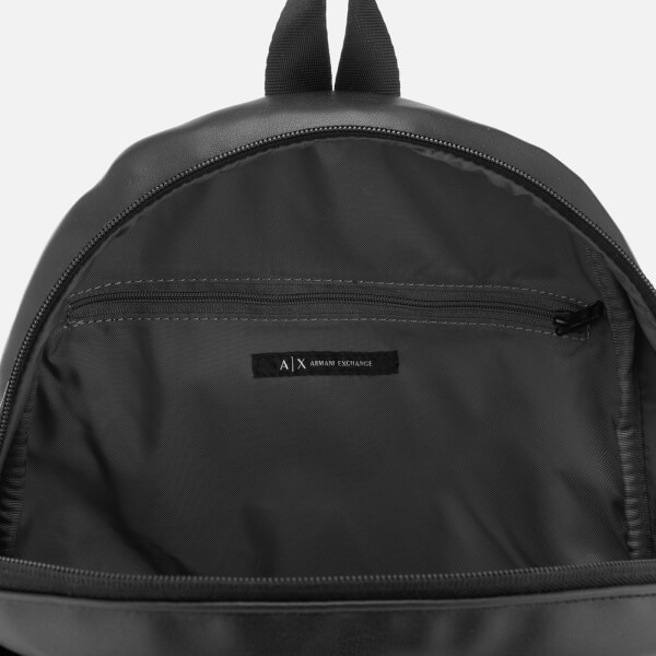 Armani Exchange Men s Eco-Nappa Backpack - Black Gun Metal  Image 5 a1498604ef