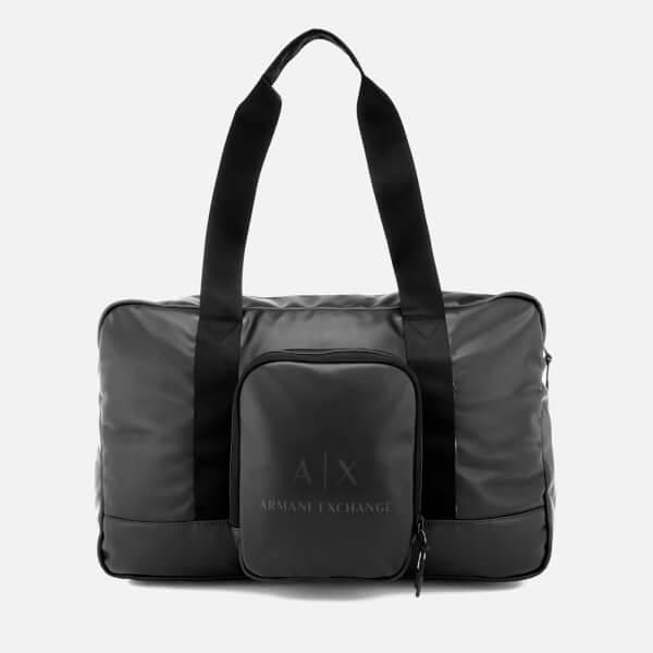 Armani Exchange Men's Duffle Bag - Black/Gun Metal