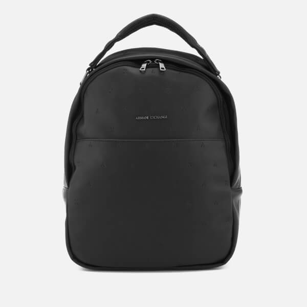 Armani Exchange Men's All Over Pattern Backpack - Nero