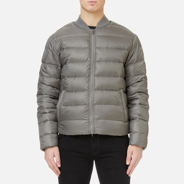 Michael Kors Men's Quilted Bomber Jacket - Slate Grey